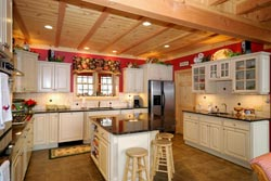 Country kitchen Granite kitchen - Largo YBL Granite & More