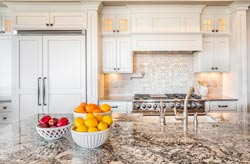 Cream Granite kitchen - Tampa FL New Image Marble and Granite