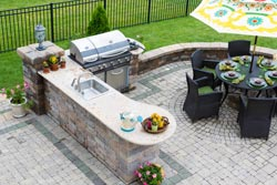 outdoor bbq Granite kitchen Granite Makeover