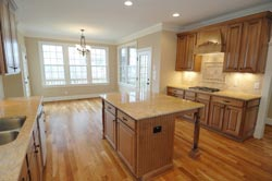transitional Granite kitchen Granite Makeover
