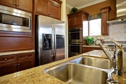 undermount sink Granite kitchen Granite Makeover